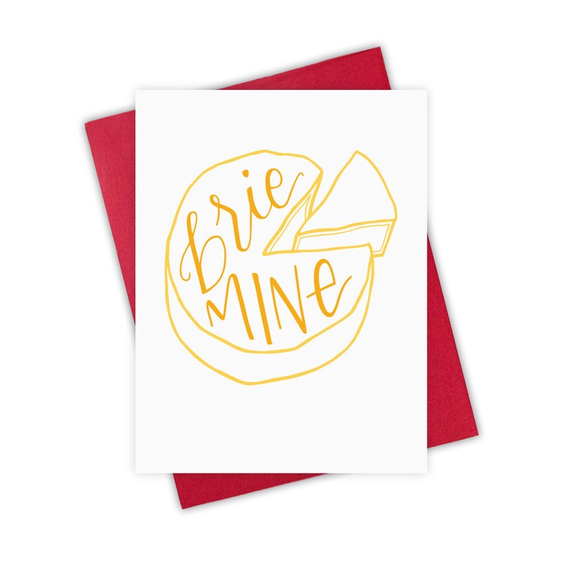 Brie Mine   Valentine's Day Greeting Card Cheese Love image 0