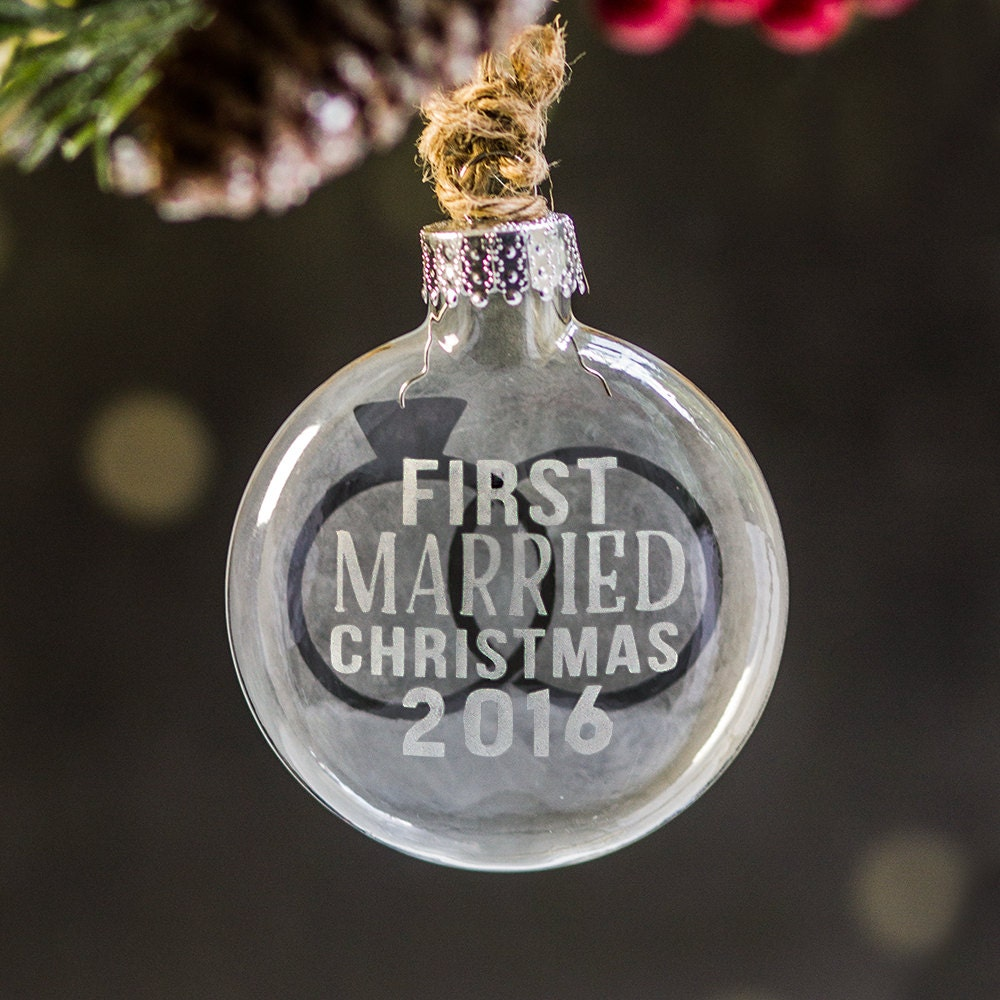 Our First Married Christmas Ornament Gift Newlywed Christmas   Etsy