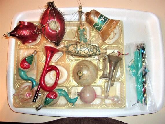Antike Weihnachtsschmuck einschließlich Draht umwickelt   Etsy