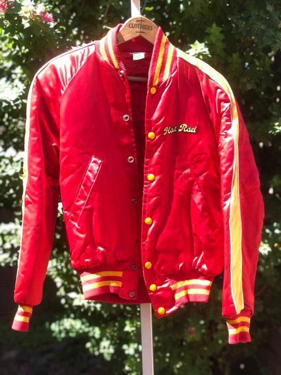 Vintage Hot Rod Magazine Silk Bomber Jacket
