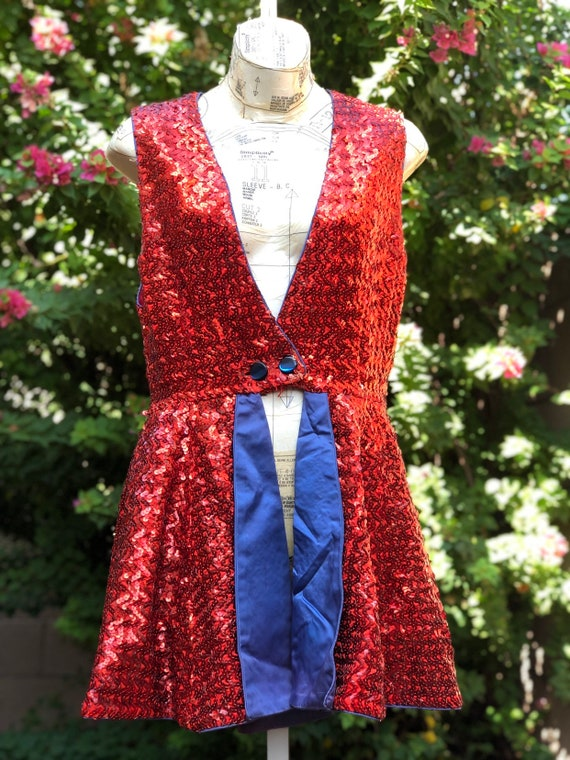 Vintage Sequin Cigarette Girl/ Burlesque Circus Co