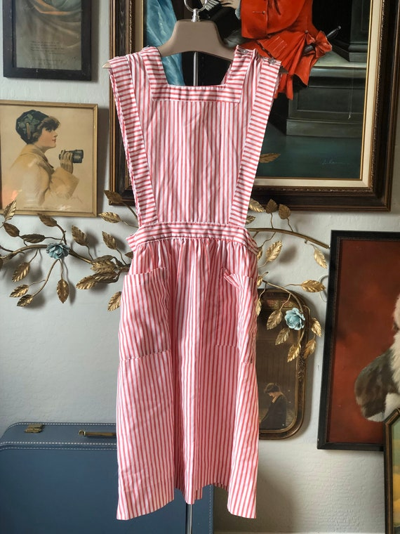 Vintage 50s Candy Striper Pinafore