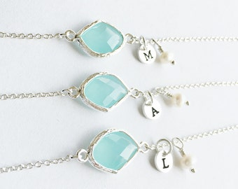 Best friend Bridesmaids Bracelet Gift, Personalized BirthStones initial Bracelet, flower girl Bracelet, wedding jewelry, birthday gift