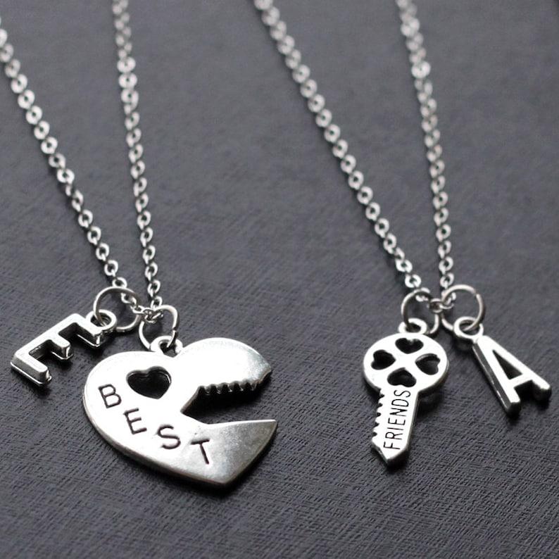 701d6daeab Best Friends Necklace set initials Graduation Friendship | Etsy