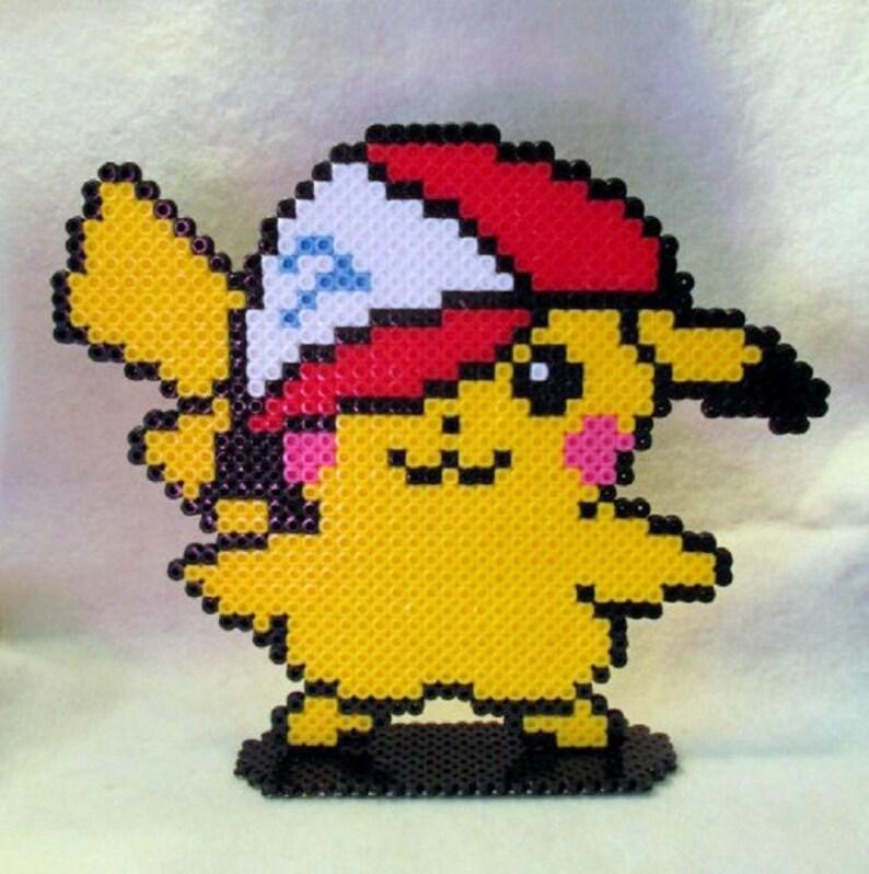 Pokemon Pikachu Stand Up Figure Perler Bead Art