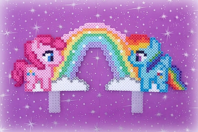 My Little Pony Birthday Cake Topper Rainbow Dash Pinkie Pie