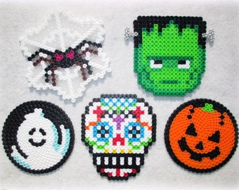 Halloween Coasters or Drink Covers Perler Beads