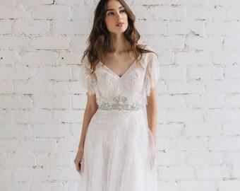 Wedding Dress Short Sleeve Sequin Cuff
