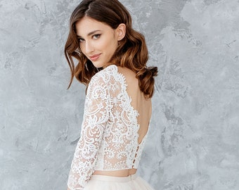 52e94d46cb6 Open back bridal top