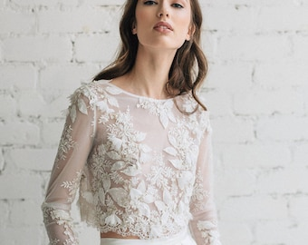 740b17698c8 Bridal lace top