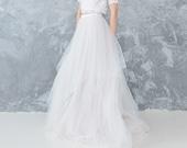 Tulle Wedding Skirt - MIGLE / Nude Tulle Skirt / Ombre Wedding Skirt in Nude Ivory / Wedding Separates