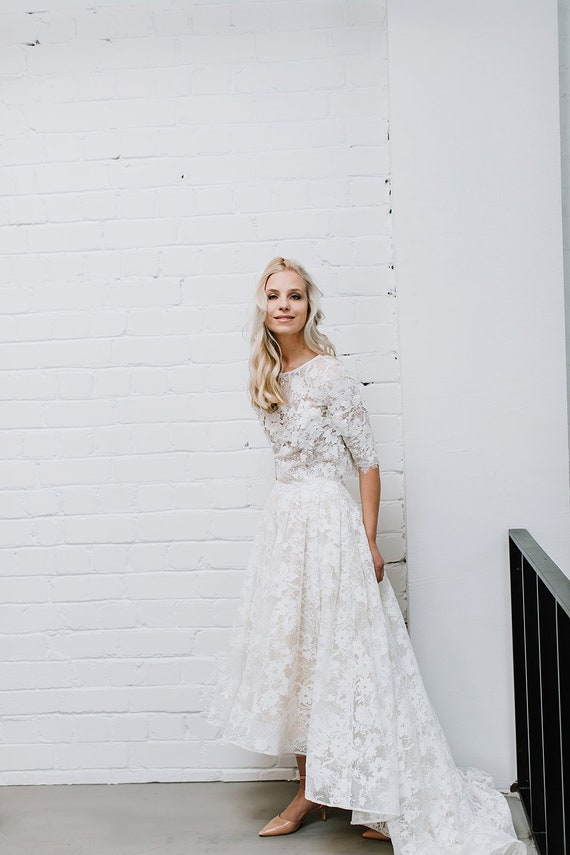 Lace Wedding Dress Bridal Separates Two Piece Wedding Dress Etsy