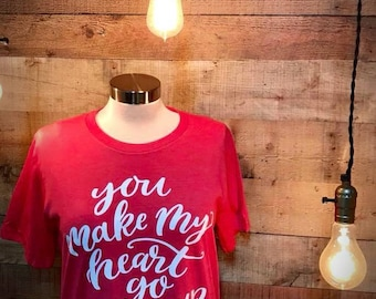 You Make My Heart Go Giddy Up Soft Style Vintage Tee