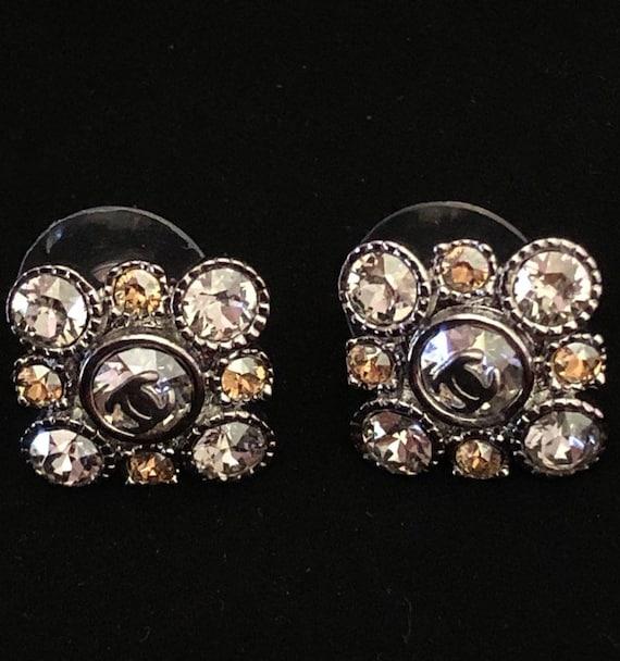 vintage chanel baroque crystal earrings Ohrrigen