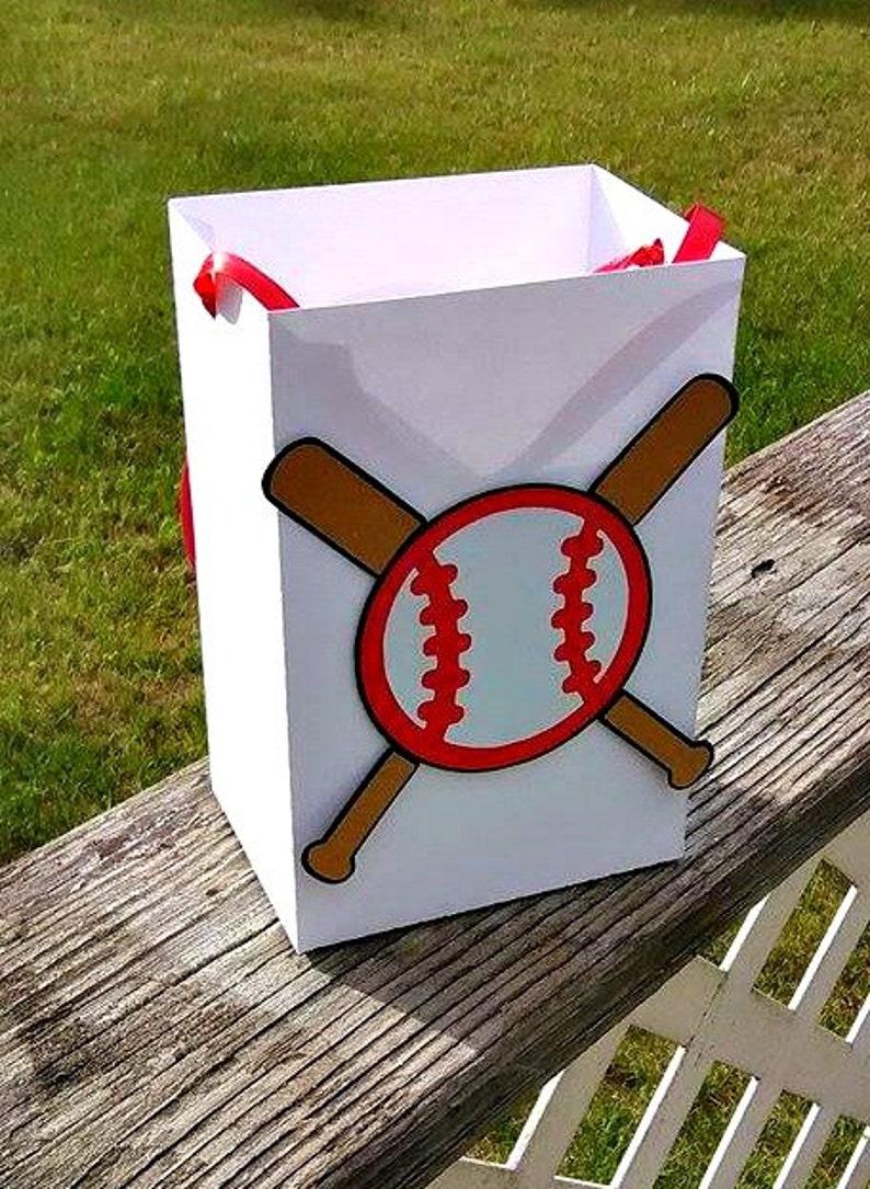 image 0 & Set of 6 Baseball Party Bags Baseball Gift Bags Sport Gift | Etsy