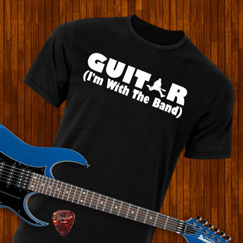 985d27338 Guitar Player Shirt Band Shirt Im With The Band Black | Etsy