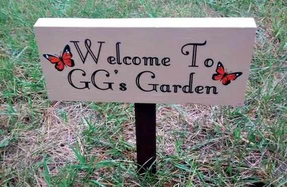 Personalized Garden Sign Personalized Garden Sign Custom Garden Sign wood sign