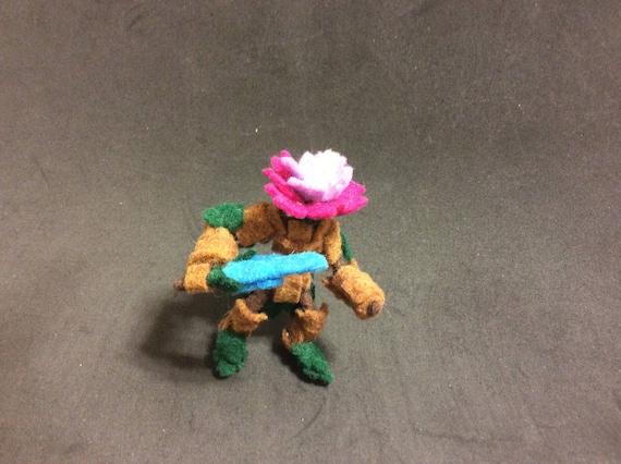 Filz Blumen Ritter-Action-Figur | Etsy