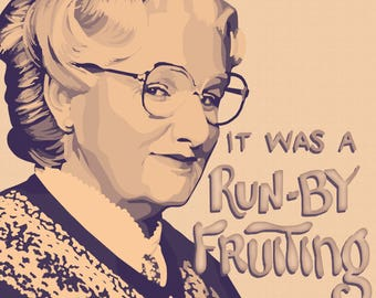 MRS. DOUBTFIRE • 11x14 Digital Drawing Poster Print