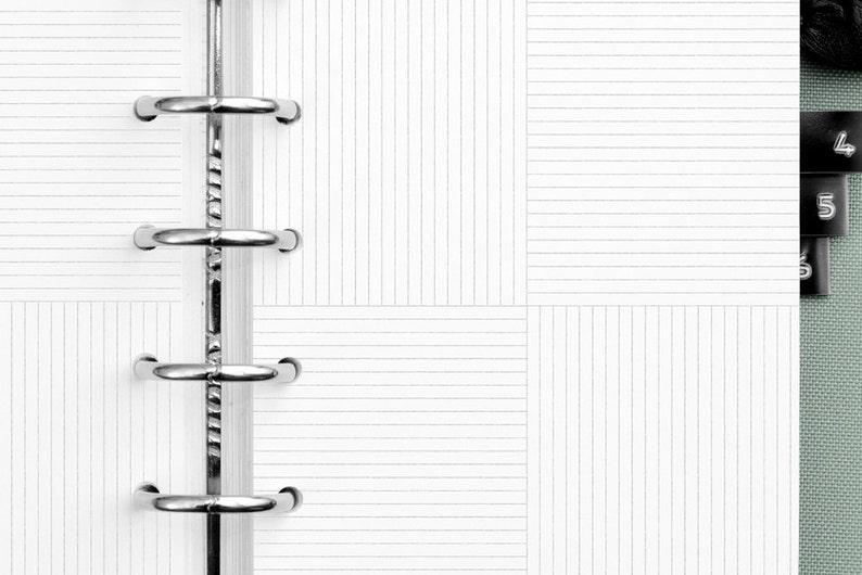 Patchwork Notepaper Filofax POCKET Inserts / Kikki K Small image 0