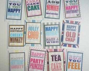 Birthday Greeting Cards Box Set of 12