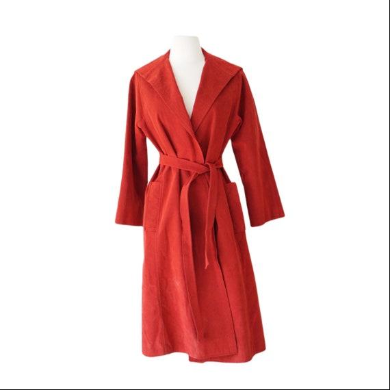 Red Suede Belted Jacket