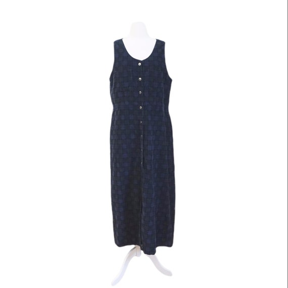 Navy Corduroy Jumper Dress