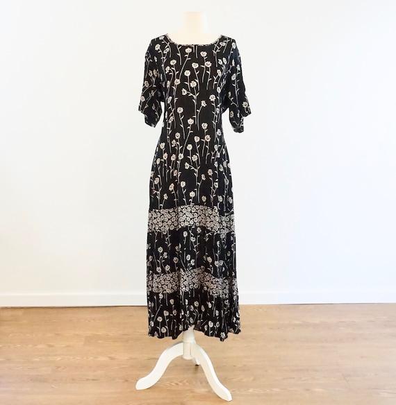 Black Floral Long Dress
