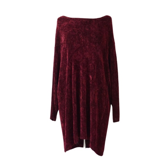 Burgundy Chenille Oversized Sweater