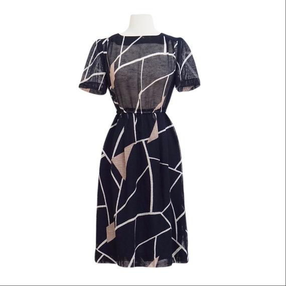 Blue Net Mesh Dress