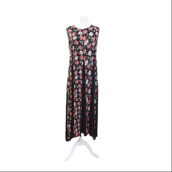 Black Boho 90s Floral Dress