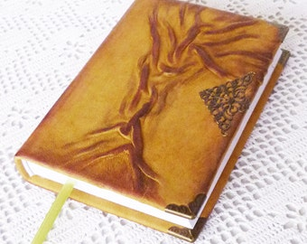 Writing Journal, Leather Diary, Travel Notebook, Tree of Life, Graduation Gift Boy, Men, Brother, Birthady, Bucket List, Rustic, Leather Art