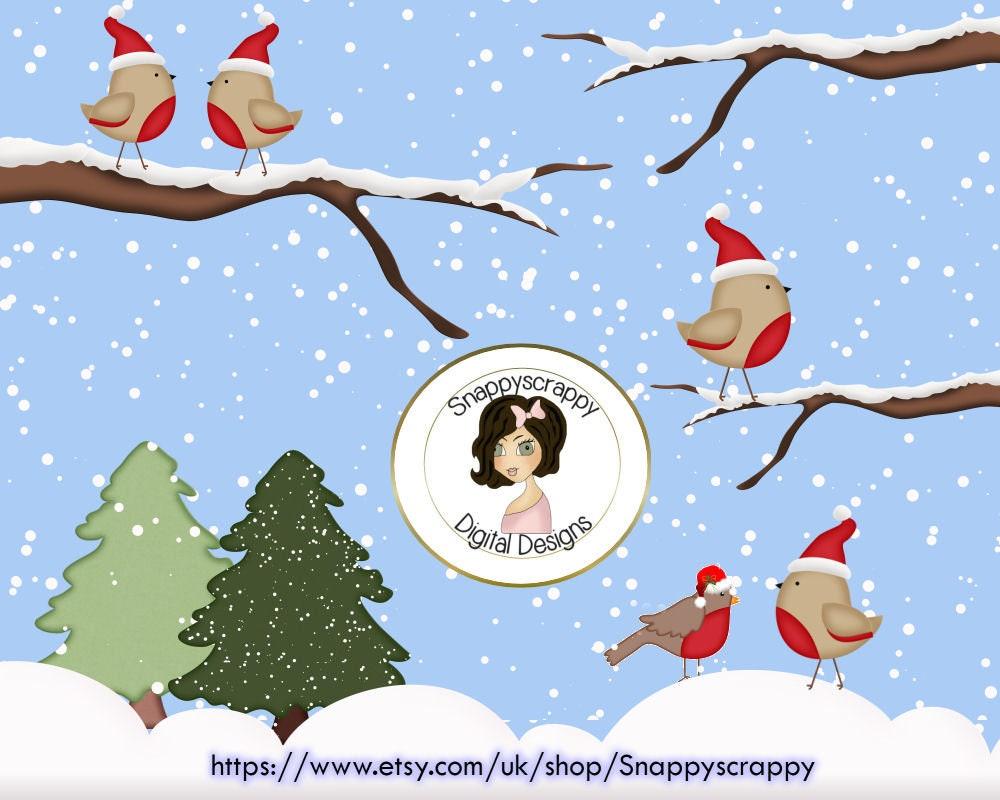 Weihnachten Robins Cliparts CU4CU | Etsy