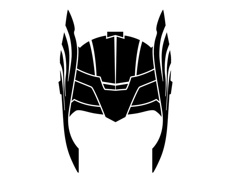 Thor Helmet dxf svg eps png file for use with your Silhouette Studio  Software