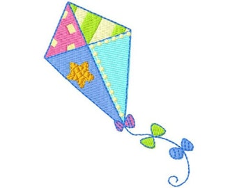 embroidery design child kite 4 x 4 instant download
