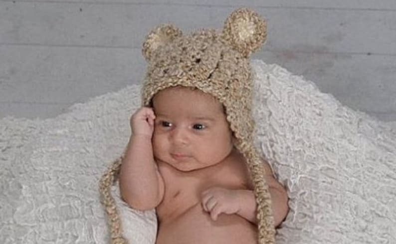 Crochet Newborn Baby Bear Hat Newborn Photo Prop Baby Bear Etsy