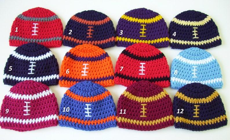College Football Hat Football Hat Crochet Football Hat Baby Etsy