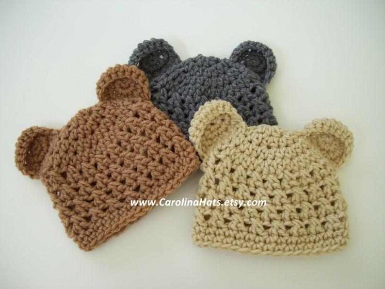 1f9477f7945 Baby Bear Hat Crochet Baby Hat Newborn Photo Prop Baby