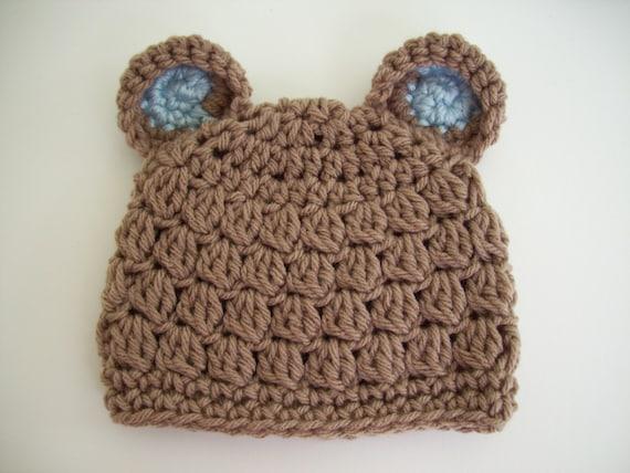7b570f7d38d Baby Boy Bear Hat Teddy Bear Hat Toddler Bear Hat Crochet