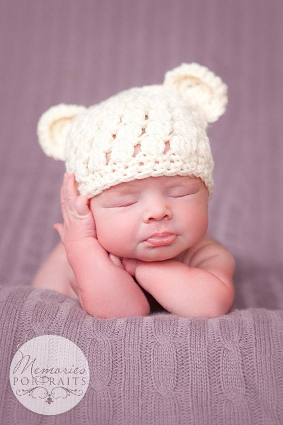 463a322f11f Teddy Bear Hat Newborn Baby Bear Hat Toddler Bear Hat Baby