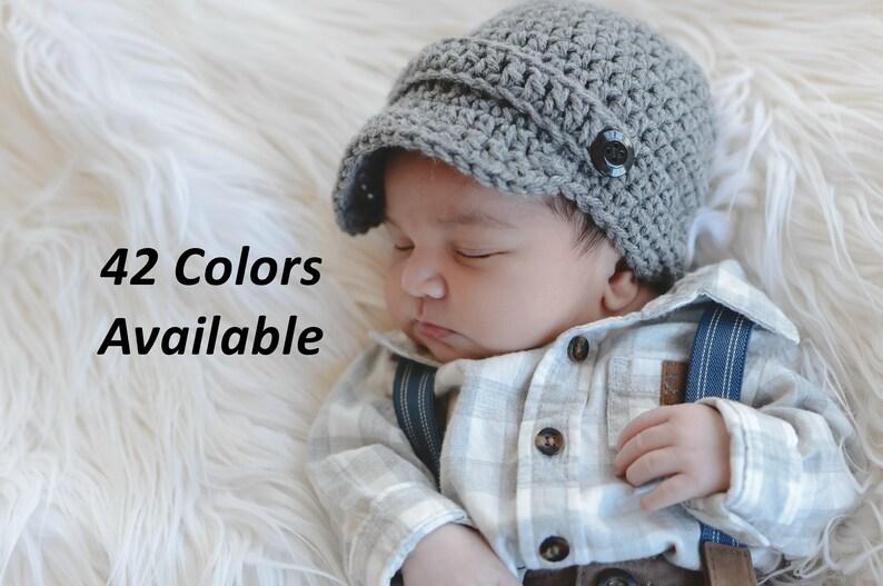 d2504345 Newsboy Hat Crochet Baby Hat Baby Boy Newsboy Hat Newborn | Etsy