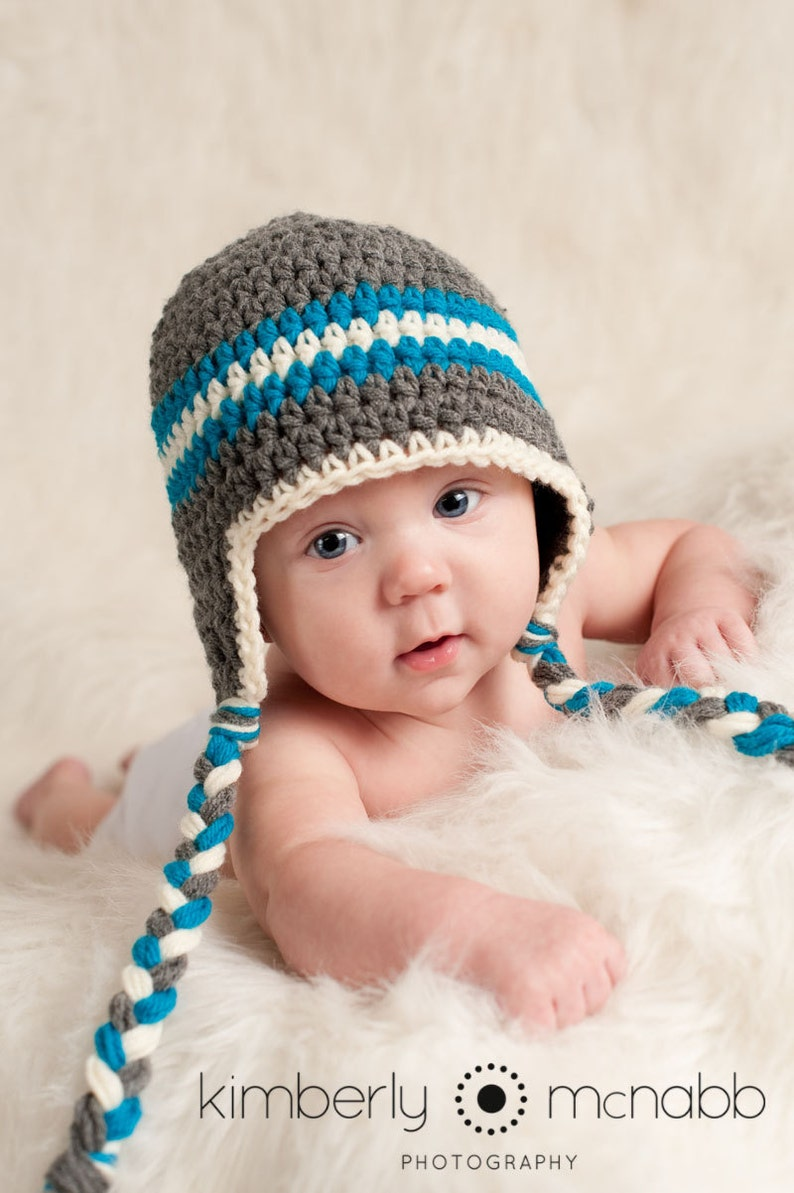 0873042fc3d Newborn Boy Photo Prop Crochet Baby Hat Baby Hats for Boys