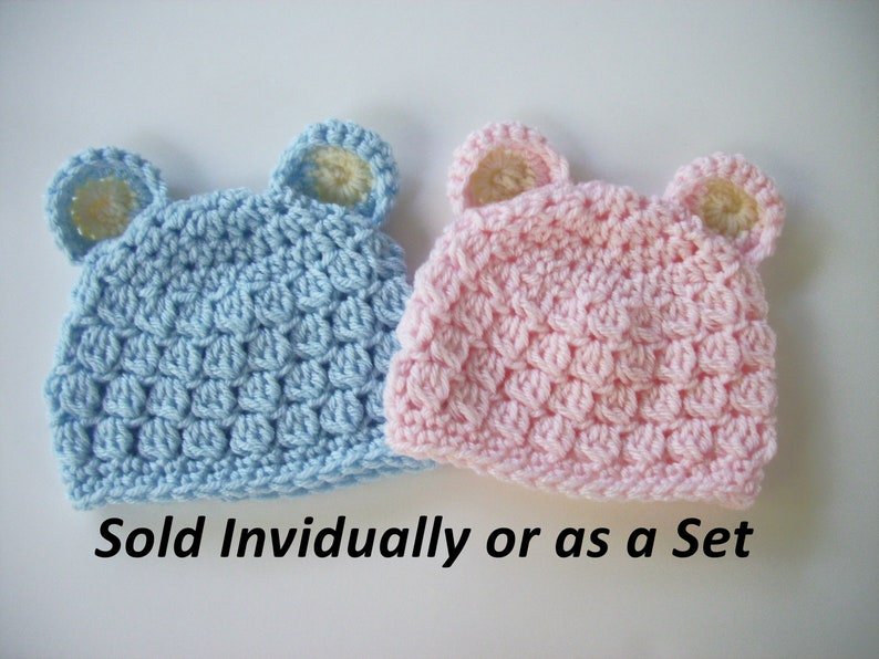 38870ba23 Baby Bear Hat Twin Bear Hats Baby Boy Bear Hat Baby Girl | Etsy