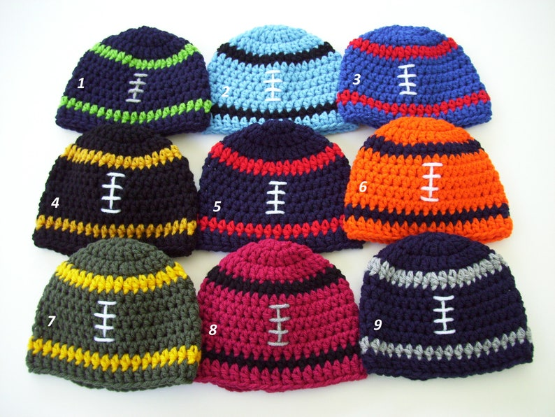 5e86a120d44 Baby Boy Football Hat Game Day Hat Football Beanie NFL