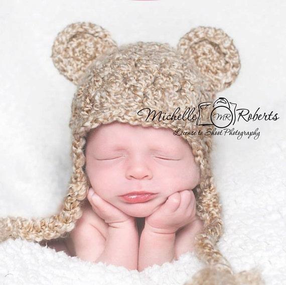 Newborn Baby Bear Hat Ready to Ship Bear Hat for Baby Boy  de1a051ed315