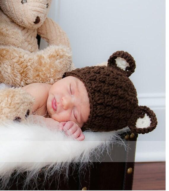Nouveau-né ours chapeau bonnet de bébé ours enfant ours   Etsy a65409a7e43