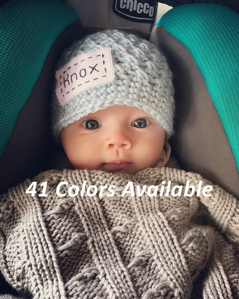 27aa8f713e1 Personalized Baby Hat Baby Coming Home Outfit Baby Boy