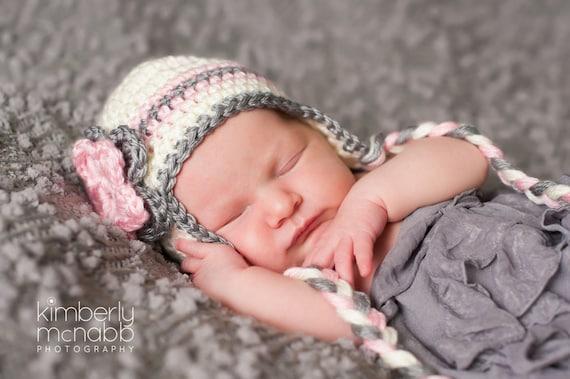 2628ed6df15 Baby Hats for Girls Crochet Baby Girl Hat Baby Girl Hat Ear