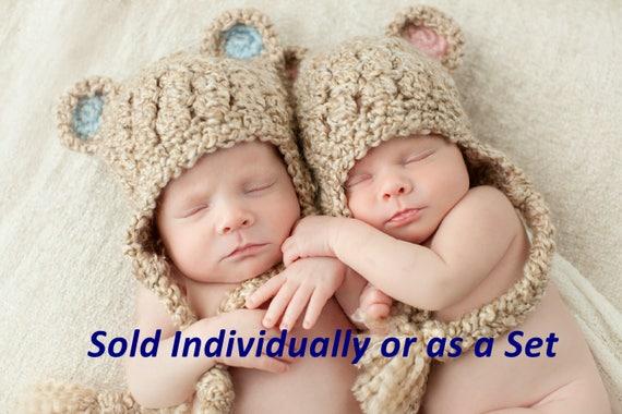 89a0ca36a3b Newborn Baby Bear Hat Bear Hat for Baby Boy Crochet Baby