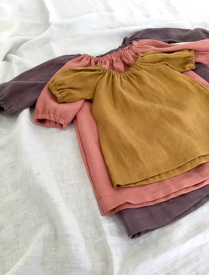 slouchy linen dress linen dress kids linen clothes Girls linen dress sizes 0m-7y summer dress slouchy dress baby dress